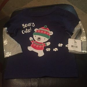 Other - Beary cute long sleeve shirt